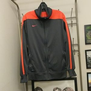 NWOT Nike Zip Up Workout Jacket Gray/Neon Orange